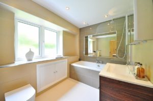 beautiful finished bathroom